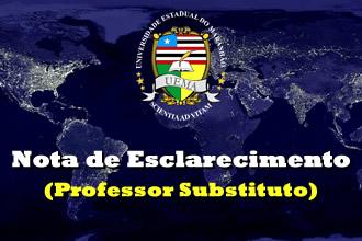 NOTA DE ESCLARECIMENTO – Professor Substituto