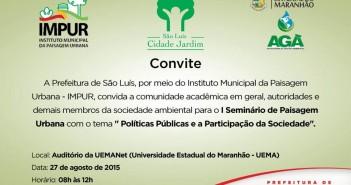 Convite - Impur - I Seminário de Paisagem Urbana