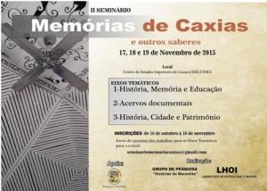 Seminário Memórias de Caxias