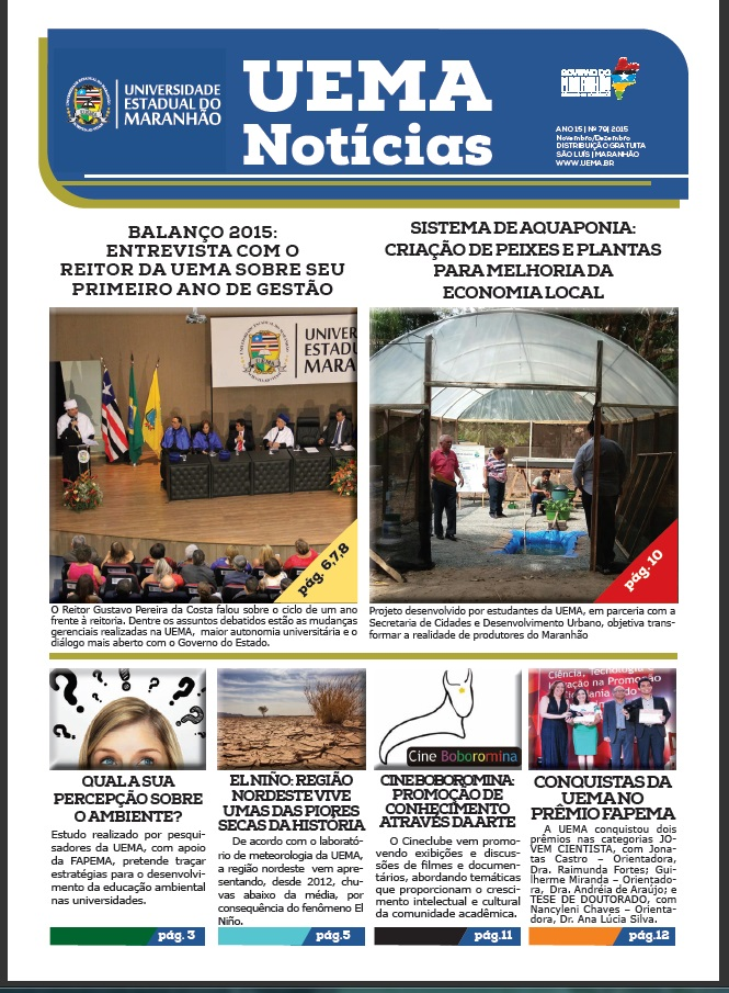 UEMA NOTÍCIAS – 4ª Ed. 2015