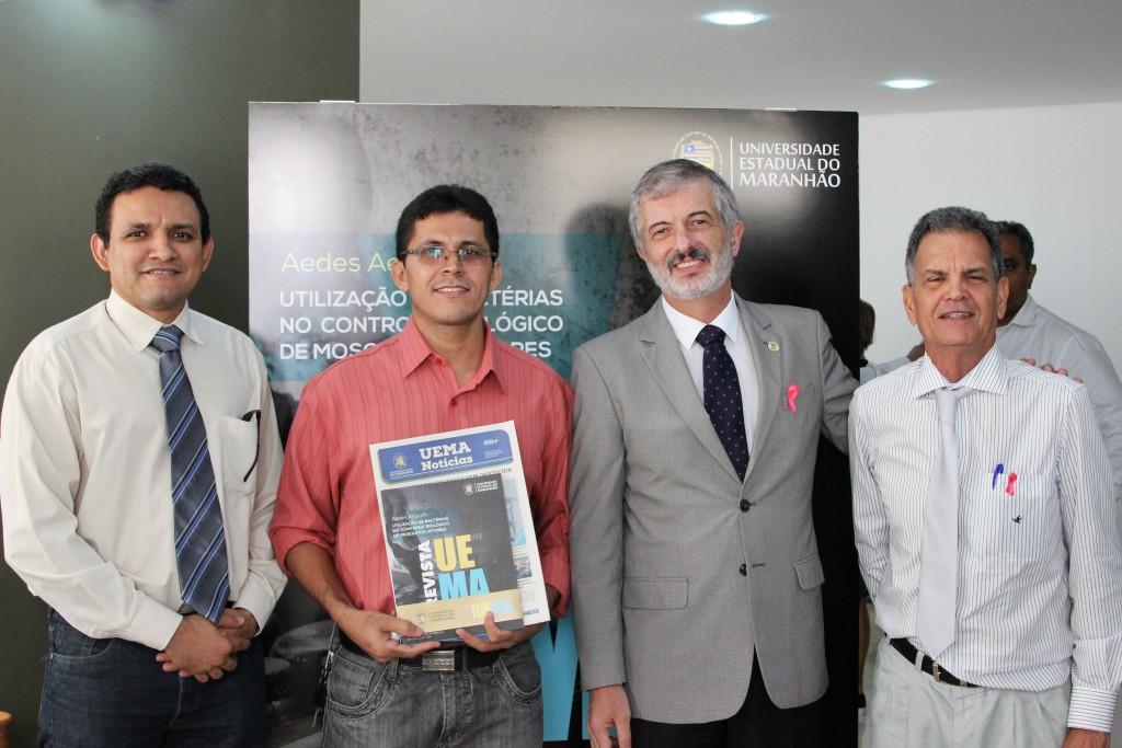 Vice-Reitor e professores da curso de Engenharia da UEMA