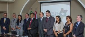 Autoridades presentes no Lançamento do Programa Ensinar