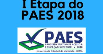 Resultado I Etapa do PAES 2018