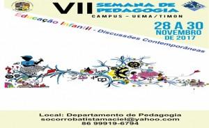 VII Semana de Pedagogia. Foto: Divulgação.