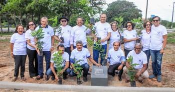 Reencontro contou com o plantio de dez mudas de Pau Brasil. Foto: Luís Paulo.