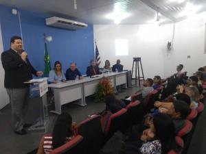 O Reitor da UEMA, Gustavo Pereira da Costa, na abertura do III Encontro de Coordenadores da UNABI. Foto: Gustavo Sampaio.