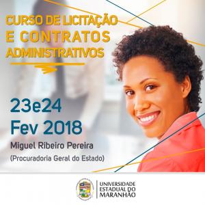 Curso de Licitação e Contratos Administrativos. Foto: Divulgação.