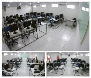 O Laboratório de Informática João Carlos Campelo, do Centro de Ciências Sociais Aplicadas (CCSA). Foto: Rafael Carvalho.