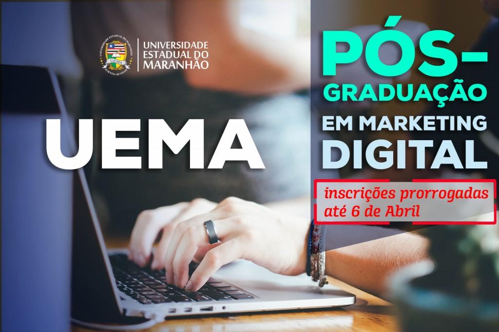 Pós-graduação em Marketing Digital da UEMA tem período de inscrição prorrogado