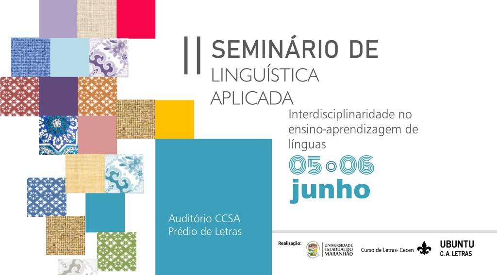 LOGO OFICIAL II SEMINÁRIO DE LINGUÍSTICA APLICADA - UEMA