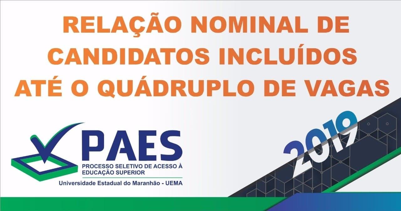 54bb2d7dda Divulgada lista de classificados para 2ª etapa do PAES 2019