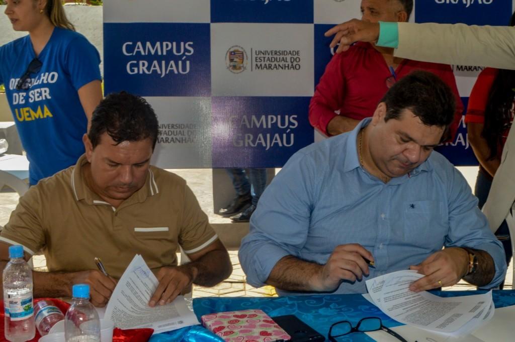 Reitor da UEMA e Prefeito de Grajaú assinam Termo de Cooperação Técnica para implantação do SOPP