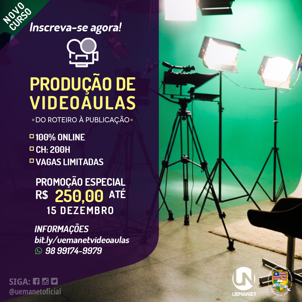 29.11.2019 - CURSO DE VIDEOAULA - LANÇAMENTO