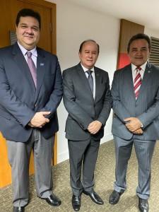 Reitor Gustavo Costa, Pres.da CAPES, Benedito Aguiar e Pres.da ABRUEM, Rangel Junior.