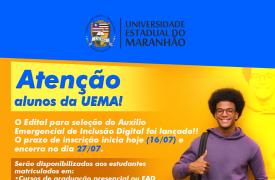 UEMA lança o Auxílio Emergencial de Inclusão Digital