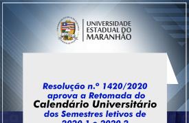 Novo Calendário Universitário define data para retomada dos semestres 2020.1 e 2020.2
