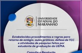 CEPE/UEMA define procedimentos e regras para retorno de estágio, aulas práticas, defesa de TCC e atividades de pesquisa por aluno de graduação