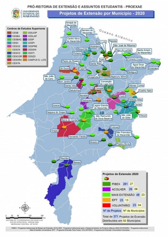 Mapa programas de extensão 2019 2020