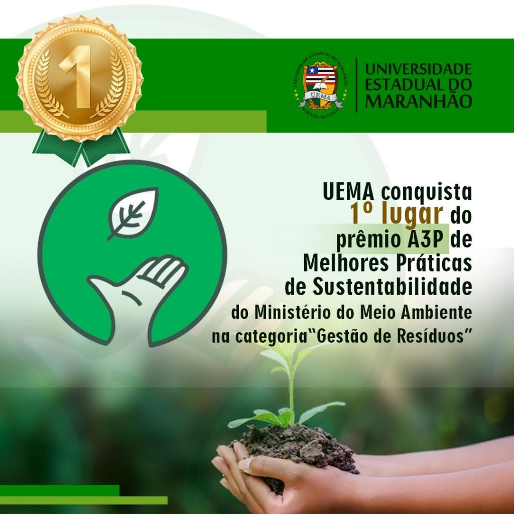 uema conquista prêmio a3p