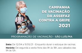 Disponível vacinação contra gripe para servidores da UEMA beneficiários do plano ASSEFAZ