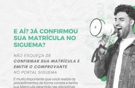 Procedimentos para confirmação de matrícula via SigUEMA