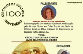"""Palestra """"Círculo de Cultura sobre o Livro Educação na cidade"""" acontece amanhã(22)"""