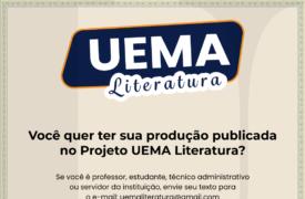 Saiba como participar do Projeto UEMA Literatura