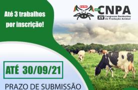 Prorrogado prazo de submissão de trabalhos para XV Congresso Nordestino de Produção Animal