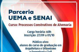 UEMA em parceria com SENAI oferta curso de Processos Construtivos de Alvenaria