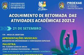 UEMA realiza Acolhimento acadêmico 2021.2 na próxima semana